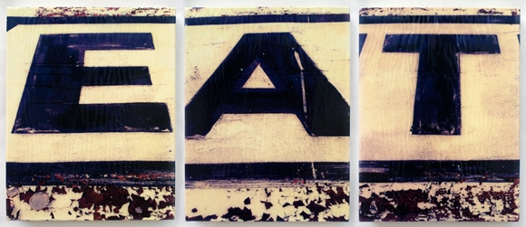 EAT by R.L. Gibson, xerography triptych