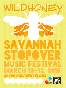 WILDHONEY poster for the Savannah Stopover Festival by Artist R.L. Gibson