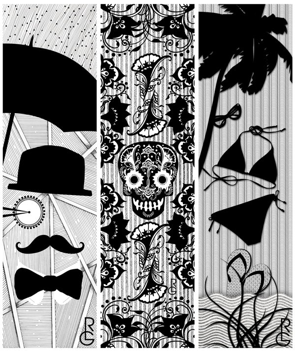 Designs by Artist R.L. Gibson for The Dark Slide exhibit in Dubuque, Iowa!