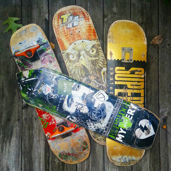 Skate Decks for The Dark Slide project by Artist R.L. Gibson sponsored by Dubuque Area Arts Collective!