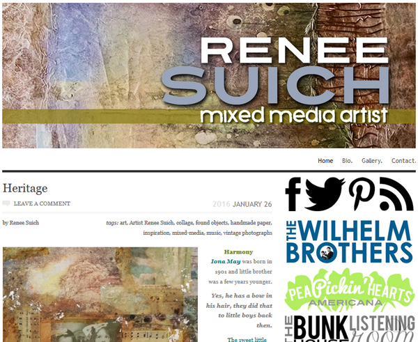 Check out the website of mixed-media artist Renee Suich!