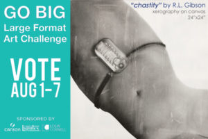 "Vote for ""Chastity"" by RL Gibson to win the Blick ""GO BIG"" competition!"