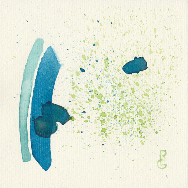 "Disperse (watercolour, 5""x5"") by Artist R.L. Gibson for Day 19 of the"
