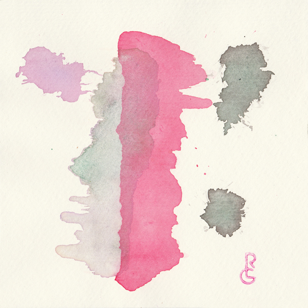 "Pulse (5""x5"" watercolor) by R.L. Gibson"